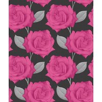 Arthouse Wallpapers Rosa Black / Pink, 417506