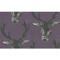 Graduate Collection Wallpapers Stag Head Plum, 29490
