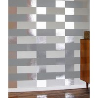 Erica Wakerly Wallpapers Block Grey White Silver, BLO G/W/S