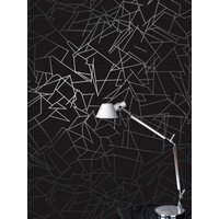 Erica Wakerly Wallpapers Angles Black Silver , ANG B/W