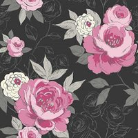 Arthouse Wallpapers Cassi Black/Pink, 640900