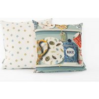 Emma Bridgewater Cushions The Dresser cushion - Duck Egg Rice, 10001