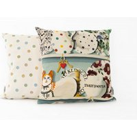 Emma Bridgewater Cushions The Dresser cushion - Duck Egg Keys, 10002