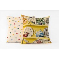 Emma Bridgewater Cushions The Dresser cushion - Lion Yellow Village Hall, 10014