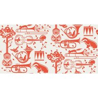 Mini Moderns Wallpapers Pet Sounds , AZDPT012 Orange