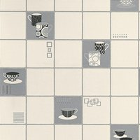 Albany Wallpapers Retro Mugs Silver/Black, 13032
