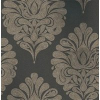 Eijffinger Wallpapers Ornate Damask Black, 341303