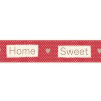 Albany Borders Home Sweet Home Border Red, B50048
