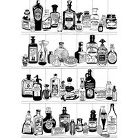 Dupenny Wallpapers Potions Black & White, POTIONS BW