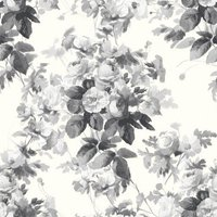 House Of Hackney Wallpapers London Rose Smoke Grey, HOH006N