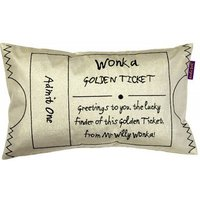Roald Dahl Cushions Charlie & The Chocolate Factory Golden Ticket, 451025