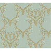Barneby Gates Wallpapers Deer Damask Duckegg, BG0100401