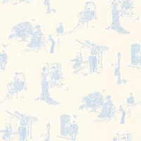 Barneby Gates Wallpapers Promenade Wedgwood Blue, BG0200201
