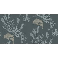 Barneby Gates Wallpapers Coral Charcoal/Gold, BG0900201