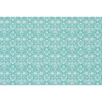Hattie Lloyd Wallpapers Kensington Chic - Turquoise Jewel , HLKC01