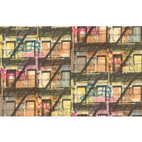 Galerie Wallpapers Graffiti Buildings Yellow, 5001-1