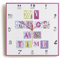 Arthouse Clocks Patchwork Hearts Clock, 008313