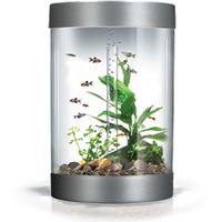BiUbe Aquarium with Intelligent LED Lighting System - Silver