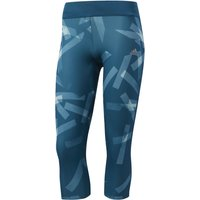 Adidas Womens Response 3/4 Tight Print Running Tights