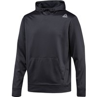 Reebok Workout Ready Elitage Grid Fleece Gym Hoodie   Long Sleeve Running Tops