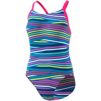Adidas Womens Infinitex+ Thin Straps Swimsuit Pink/Blue Adult Swimwear