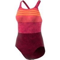 adidas Women's Infinitex+ Essence Flare Swimsuit Red/Pink   Adult Swimwear