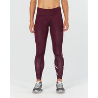 2XU Womens Print Mid-Rise Compression Tights Compression Base Layers