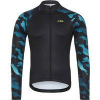 dhb Blok Thermal Long Sleeve Jersey - Camo Long Sleeve Cycling Jerseys