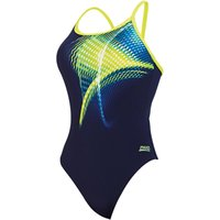 Zoggs Womens Velocity Sprintback Swimsuit Adult Swimwear