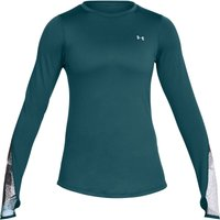 Under Armour Womens ColdGear Fitted Novelty Crew Long Sleeve Running Tops