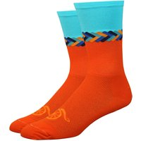 DeFeet Aireator 6 Handlebar MoustacheTwisted Socks Cycling Socks