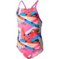 Adidas Girls Infinitex+ Allover Print X-Back Swimsuit Childrens Swimwear