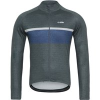 dhb Classic Thermal Long Sleeve Jersey - Stripe Marl   Long Sleeve Cycling Jerseys