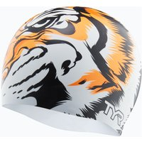 TYR Silicone Tiger Swim Cap Swimming Caps