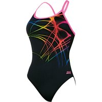Zoggs Women's Flame Sprintback Swimsuit   Adult Swimwear