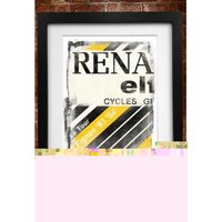Cycling Souvenirs Renault Jersey A3 Paper Print Gift Items