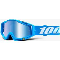 100% RACECRAFT Monoblock - Mirror Blue Lens Cycle Goggles