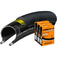 Continental Grand Prix 4000S II 23c Tyre with 3 Tubes Road Race Tyres
