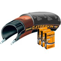 Continental Gatorskin 23c Tyre with 3 Tubes Road Race Tyres