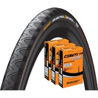 Continental Grand Prix 4 Season 28c Tyres & 3 Tubes Road Race Tyres