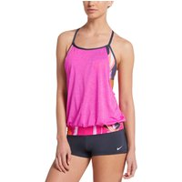 Nike Rule Beam Layered Sport Tankin One Piece Swimsuits