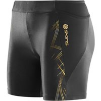 SKINS A400 Womens Shorts Black/Gold XL Compression Base Layers