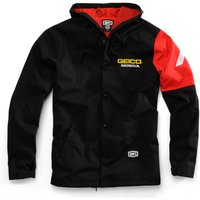 100% Geico Honda Flux Hooded Jacket Cycling Windproof Jackets