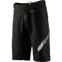 100% Airmatic Short - Forever Black Baggy Cycling Shorts