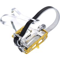 Wellgo Steel Toe Clips and Straps Set Flat Pedals