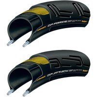 Continental GP Force II and Attack II Folding Tyre Set Road Race Tyres