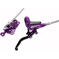 Hope Tech 3 X2 Purple Disc Brake With Braided Hose Disc Brakes