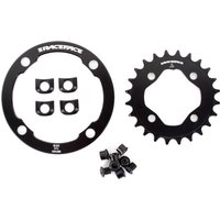Race Face Narrow Wide Chainring (24 Tooth) with Bash Guard Chain Devices & Bash Guards