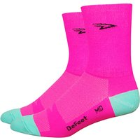 DeFeet Aireator Hi-Vis D-Logo Socks Cycling Socks