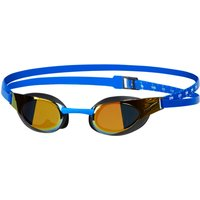 Speedo Fastskin3 Elite Mirror Goggle (Blue/Gold) Adult Swimming Goggles